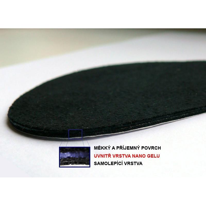 Anti-tlakové gelové vložky do bot na podpatku 3/4, Barva Béžová